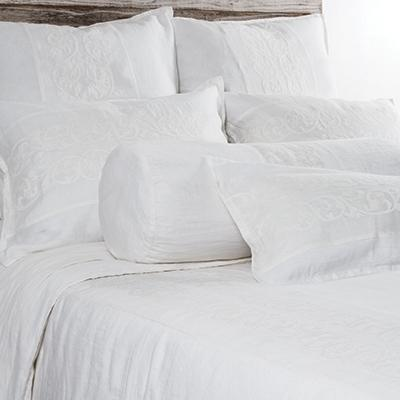Allegra Sham by Pom Pom at Home-Bed & Bath-Standard-White-A Cottage in the City