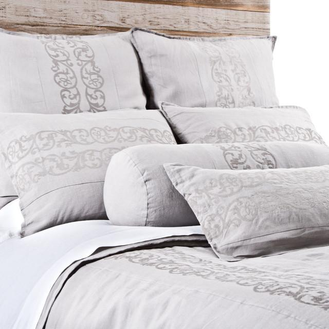 Allegra Duvet by Pom Pom at Home-Bed & Bath-Pom Pom-Queen-Silver-A Cottage in the City