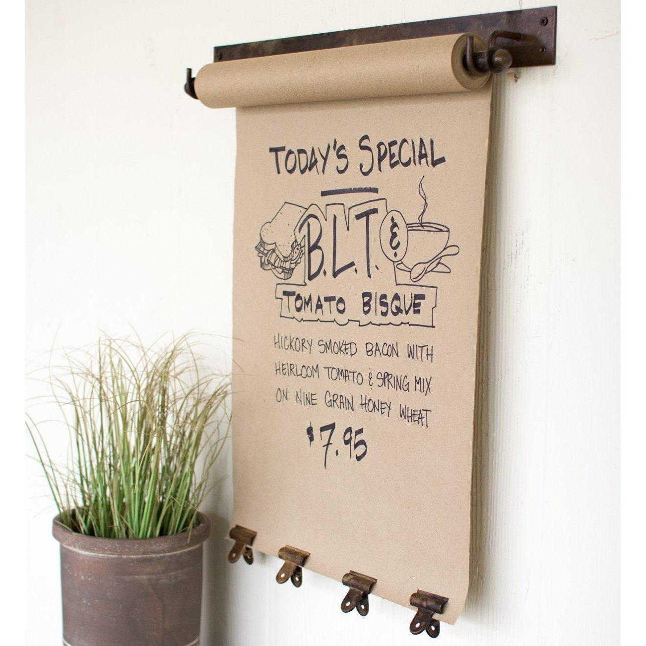 Antiqued Brass Paper Message Roll With Clips