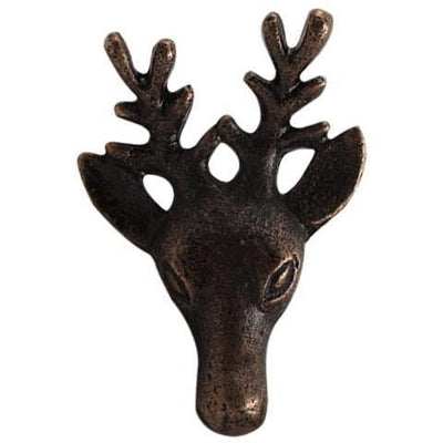 Antiqued Bronze Reindeer Knob