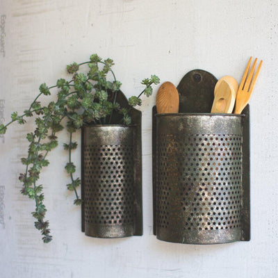 Antiqued Mesh Wall Planter