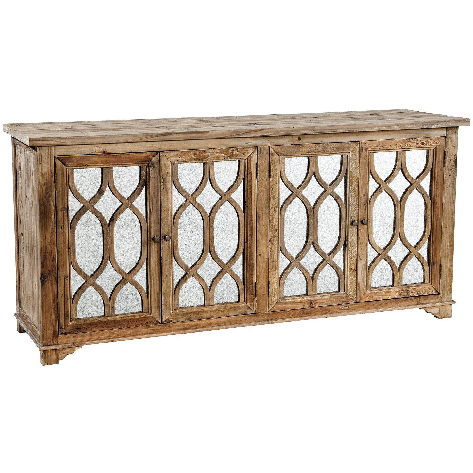 Antiqued Mirror Sideboard-Furniture-A Cottage in the City