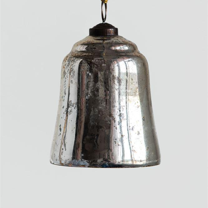 Antiqued Silver Bell Ornament-Seasonal-A Cottage in the City