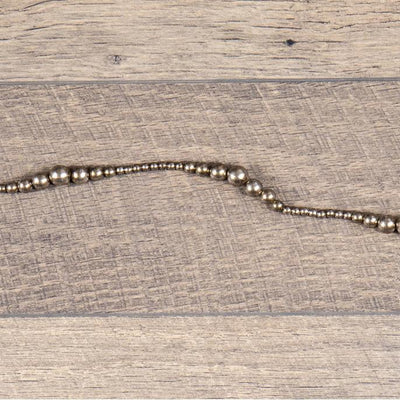 Antiqued Variegated Silver Bead Garland