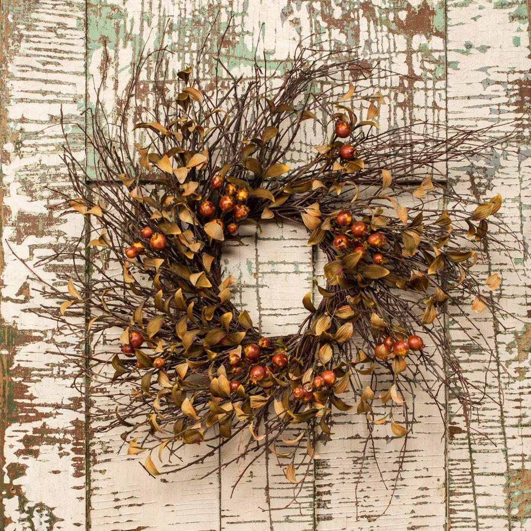 Artificial Crabapple Wreath