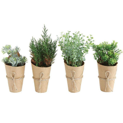 Artificial Plant In Paper Pot