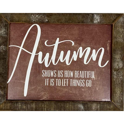 Autumn Rustic Framed Print