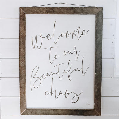 Beautiful Chaos Rustic Framed Print