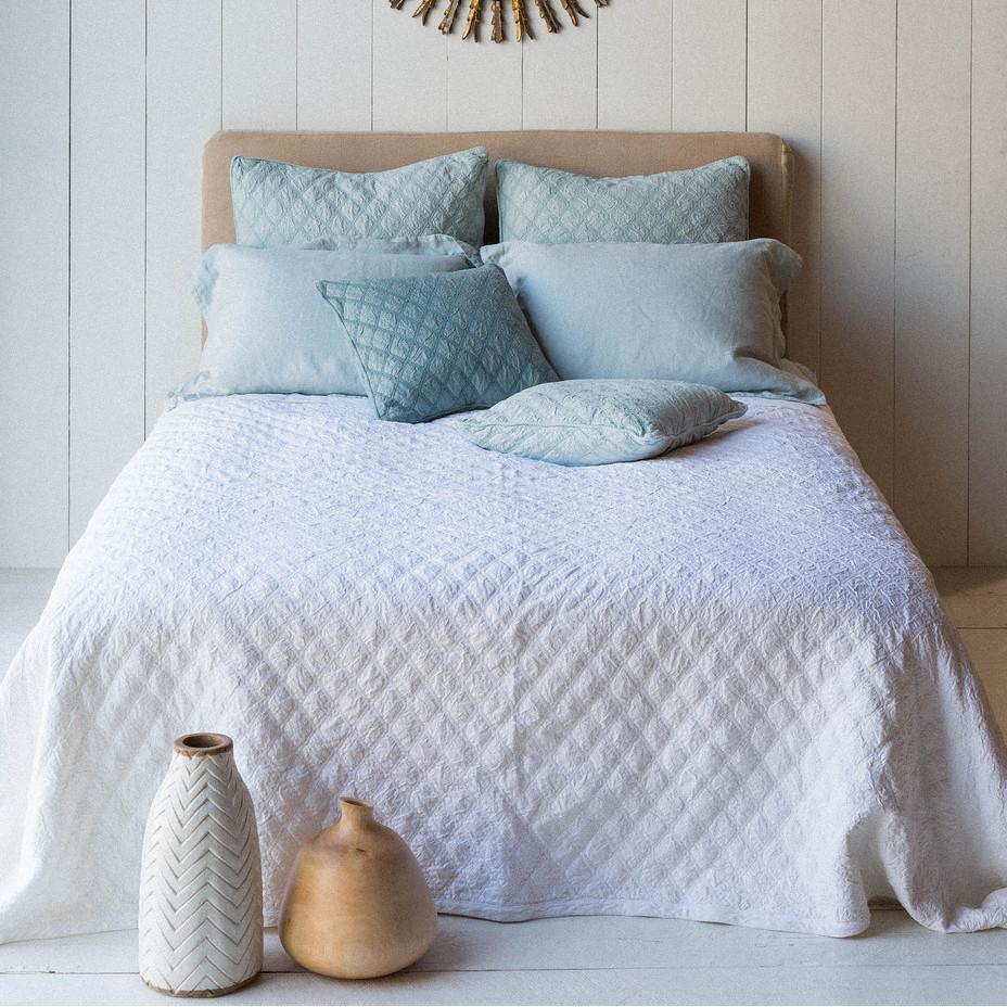 Bella Notte Linens Chesapeake Queen Powder Coverlet-Sale-A Cottage in the City