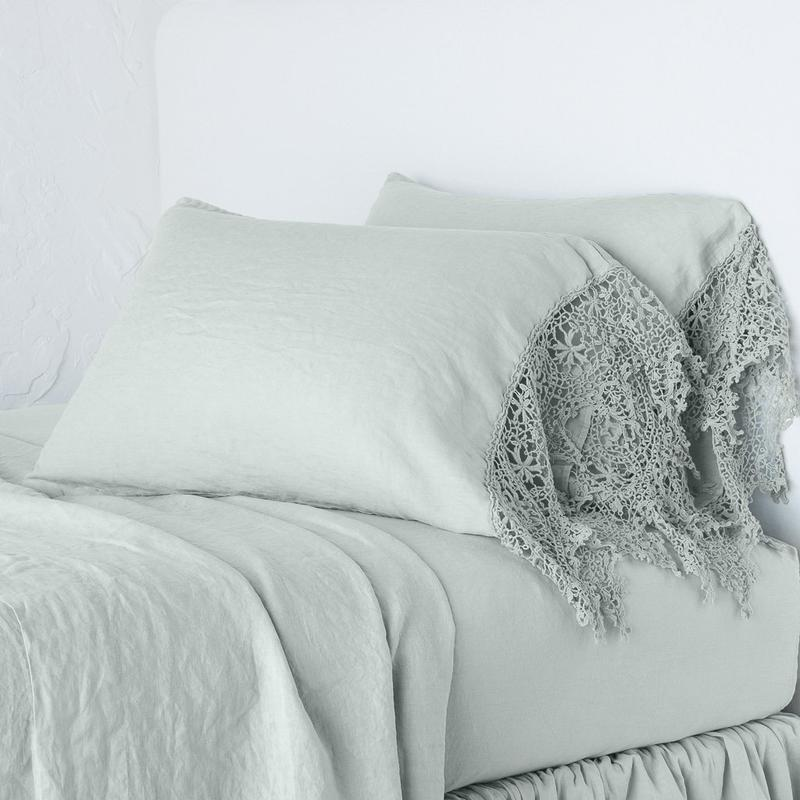 Bella Notte Linens Frida Pillowcase-Bed & Bath-King-Eucalyptus-A Cottage in the City