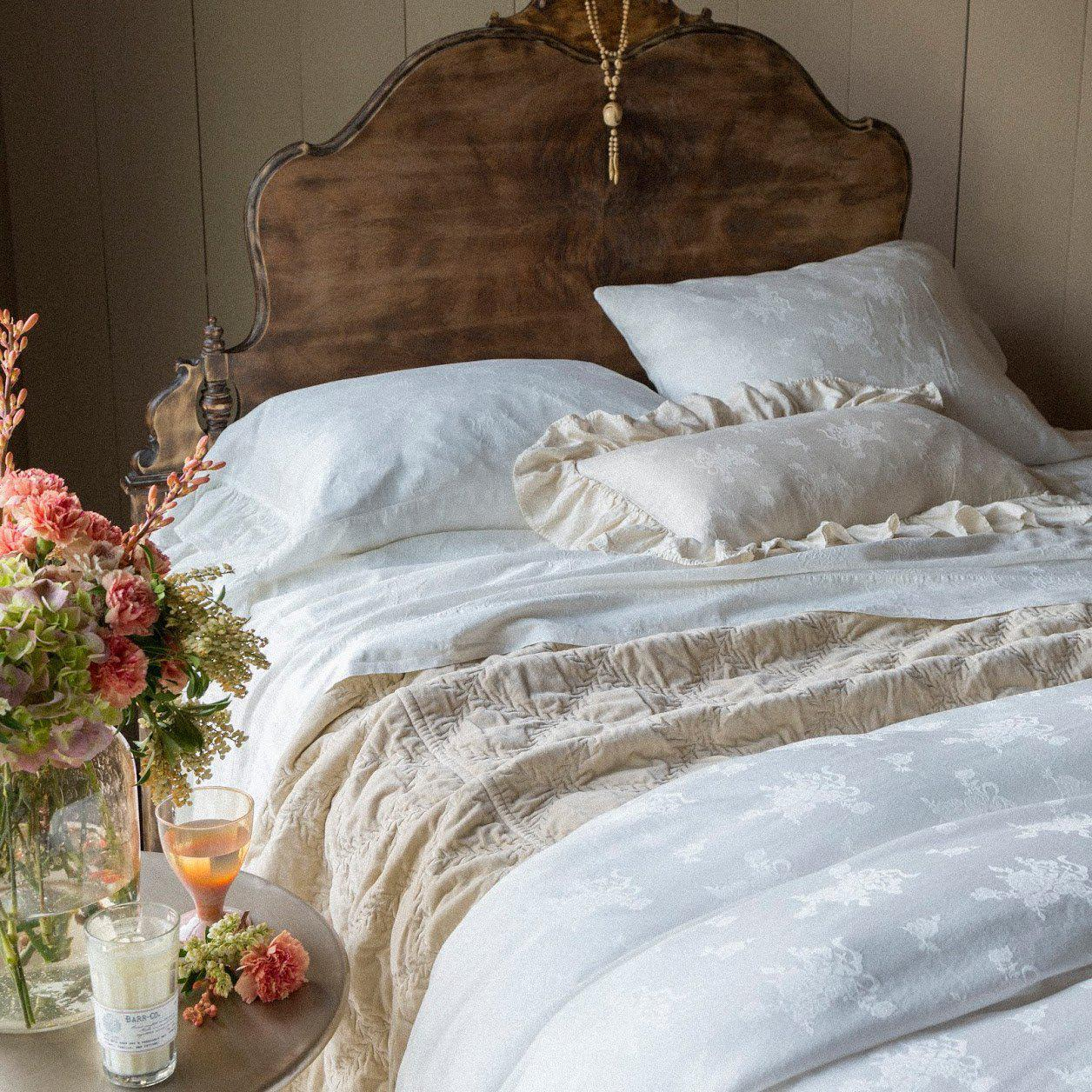 Bella Notte Linens Isabella Duvet-Bed & Bath-Queen-White-A Cottage in the City