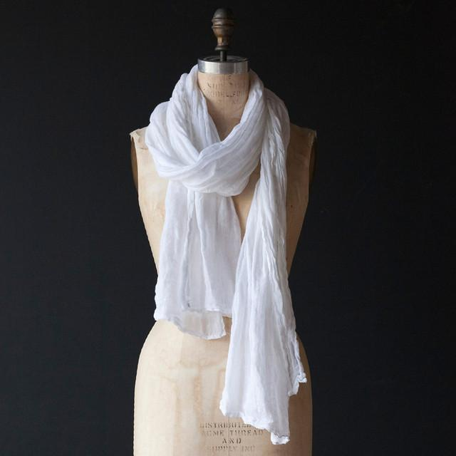 Bella Notte Linens Linen Whisper Scarf-Gifts-Pearl-A Cottage in the City