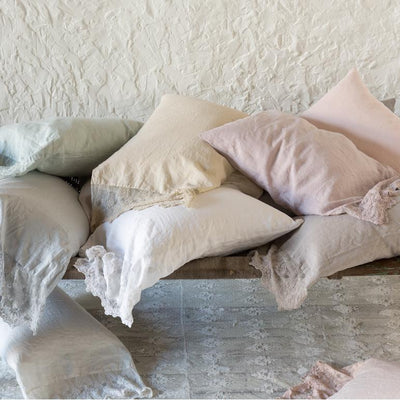 Bella Notte Linens Olivia Lace Linen Pillowcase