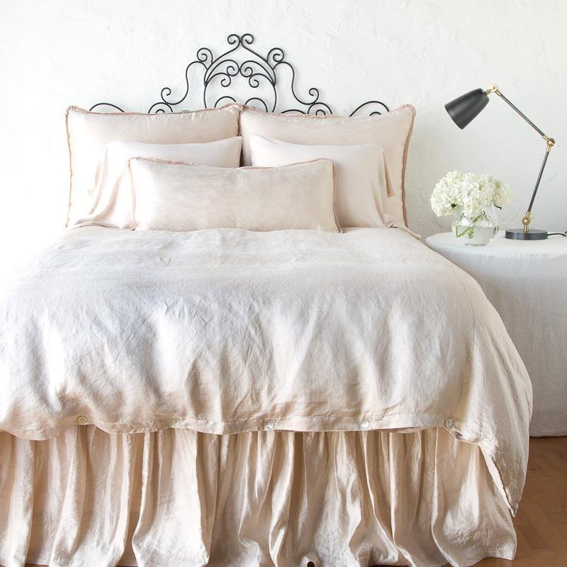 Bella Notte Linens Paloma Dust Ruffle-Bed & Bath-King-Cenote-A Cottage in the City