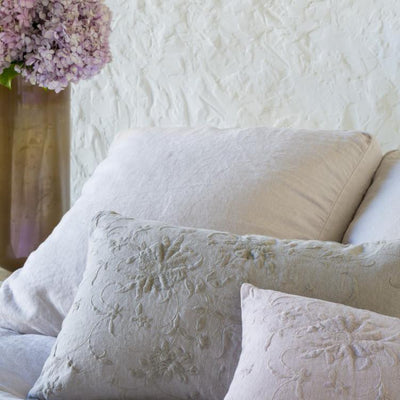 Bella Notte Linens Seville Embroidered Accent Pillow
