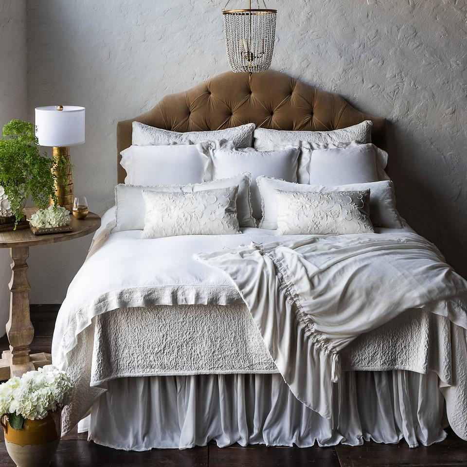Bella Notte Linens Vienna Coverlet-Bed & Bath-Queen-Pearl-A Cottage in the City