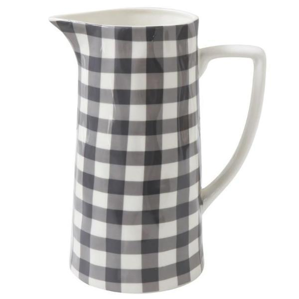 Black Gingham Pitcher-Decor-A Cottage in the City