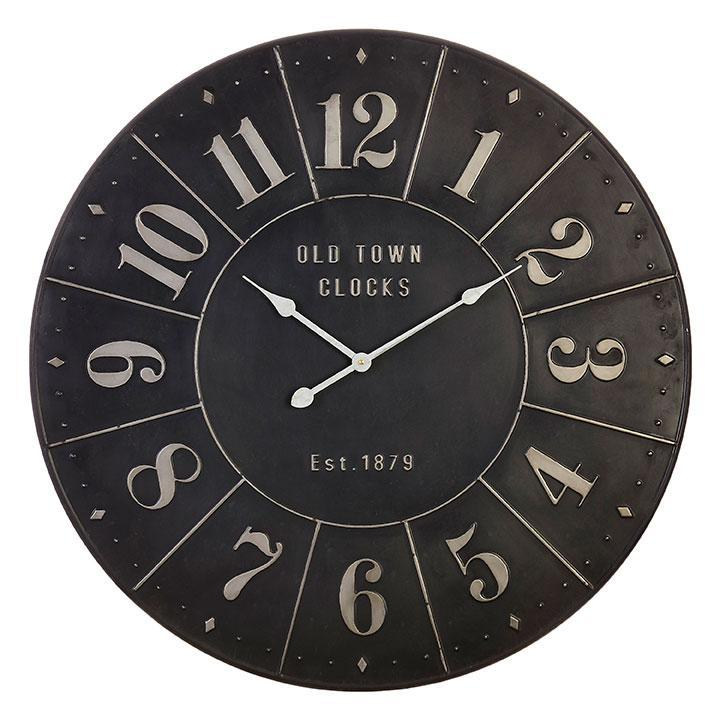 Black Metal Wall Clock-Decor-Raz-A Cottage in the City