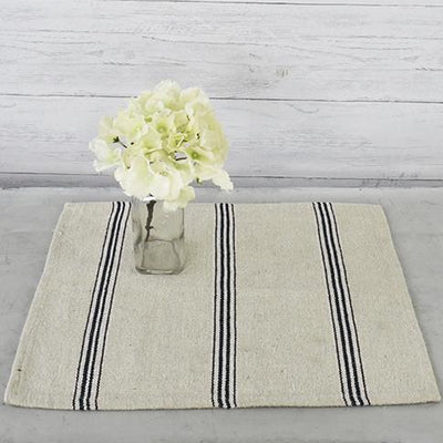 Black Striped Cotton Placemat