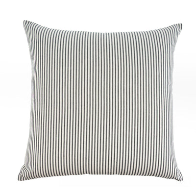 Black Ticking Stripe Pillow