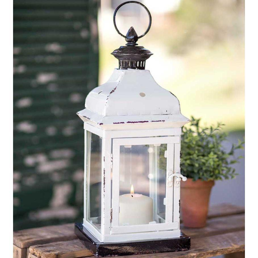 Black & White Metal Lantern-Decor-A Cottage in the City