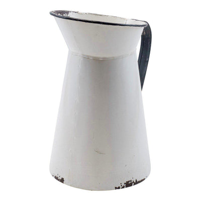 Black & White Metal Pitcher-Decor-VIP-A Cottage in the City