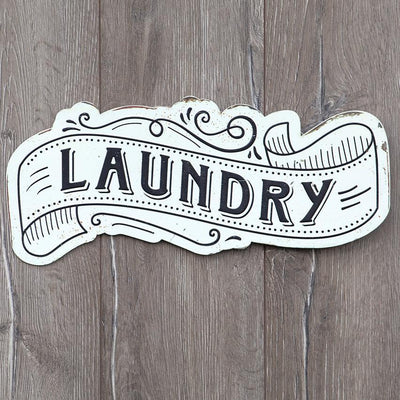 Black & White Retro Laundry Room Sign