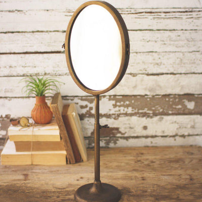 Bronze Metal Table Mirror