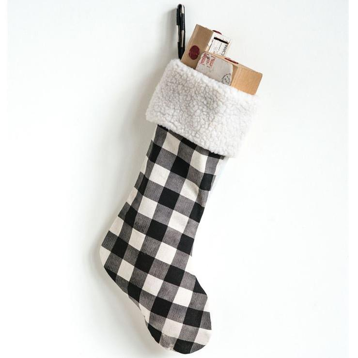 Buffalo Check Stocking-Seasonal-A Cottage in the City