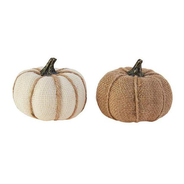 Burlap Mini Pumpkin-Seasonal-A Cottage in the City