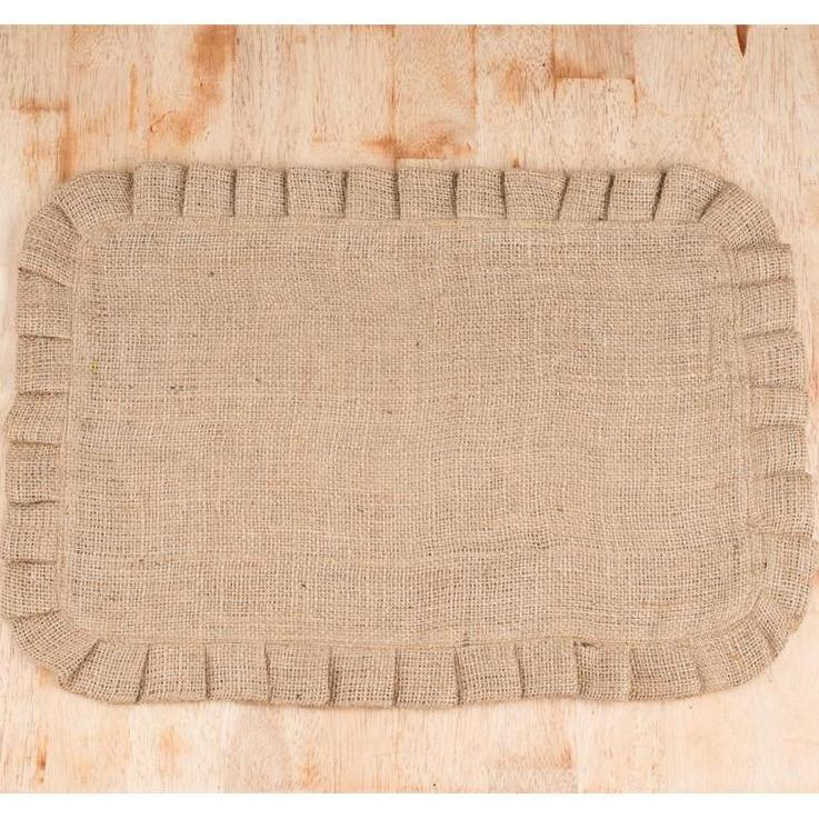 Burlap Ruffled Placemat-Tabletop-A Cottage in the City