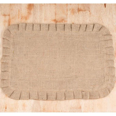 Burlap Ruffled Placemat