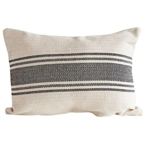 Canvas Black Stripe Pillow