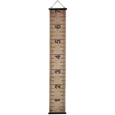 Canvas Growth Ruler Wall Hanging