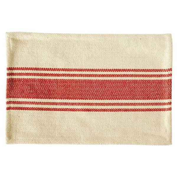 Canvas Stripe Red Placemat-Tabletop-A Cottage in the City