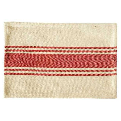 Canvas Stripe Red Placemat