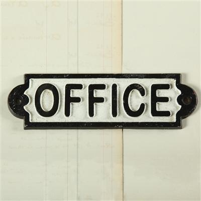 Cast Iron Office Sign