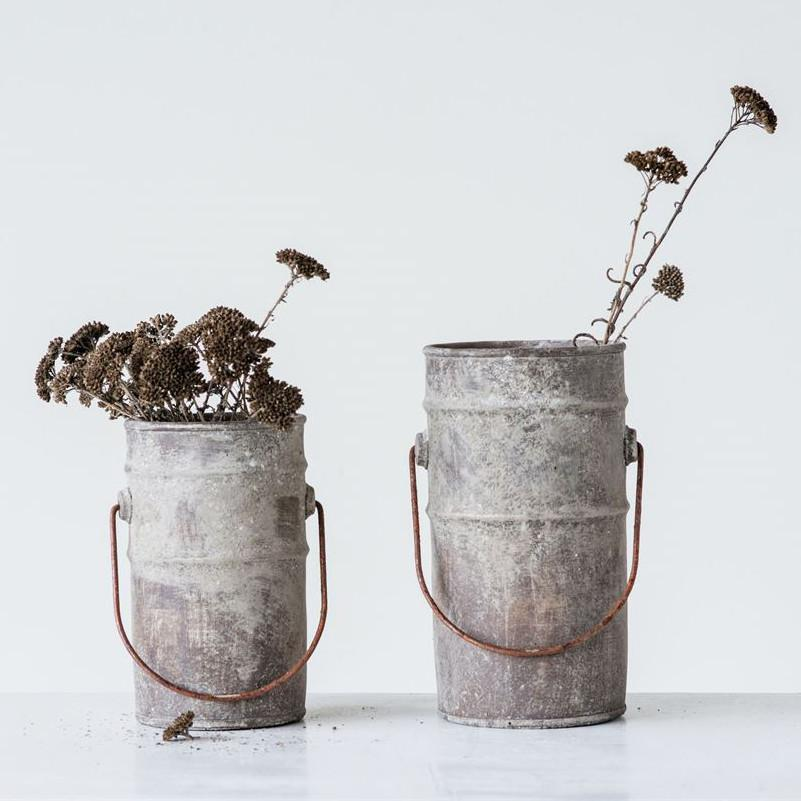Cement Bucket With Handle-Storage-A Cottage in the City