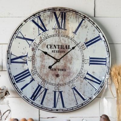 Central Station Metal Wall Clock