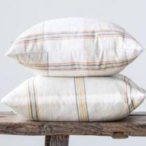 Woven Plaid Pillow-Decor-A Cottage in the City