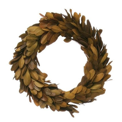 Round Preserved Boxwood Wreath 6