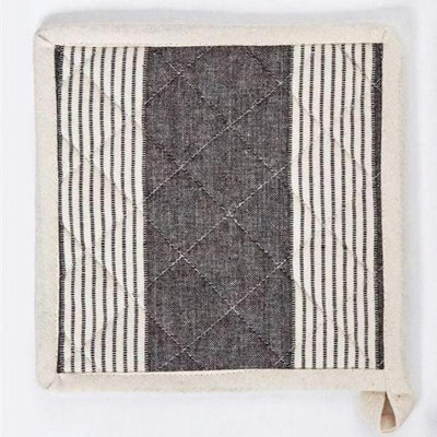 Chambray Potholder With Stripes