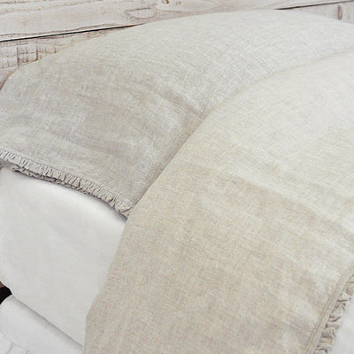Charlie Flat Sheet by Pom Pom at Home-Bed & Bath-Pom Pom-Queen-Flax-A Cottage in the City