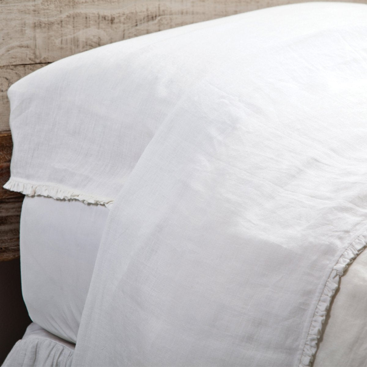 Charlie Flat Sheet by Pom Pom at Home-Bed & Bath-Pom Pom-Queen-White-A Cottage in the City