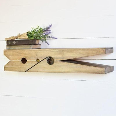 Clothes Pin Shelf