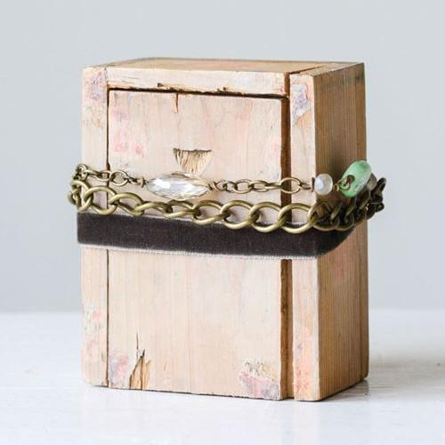 Copper & Velvet Beaded Bracelet-Gifts-A Cottage in the City