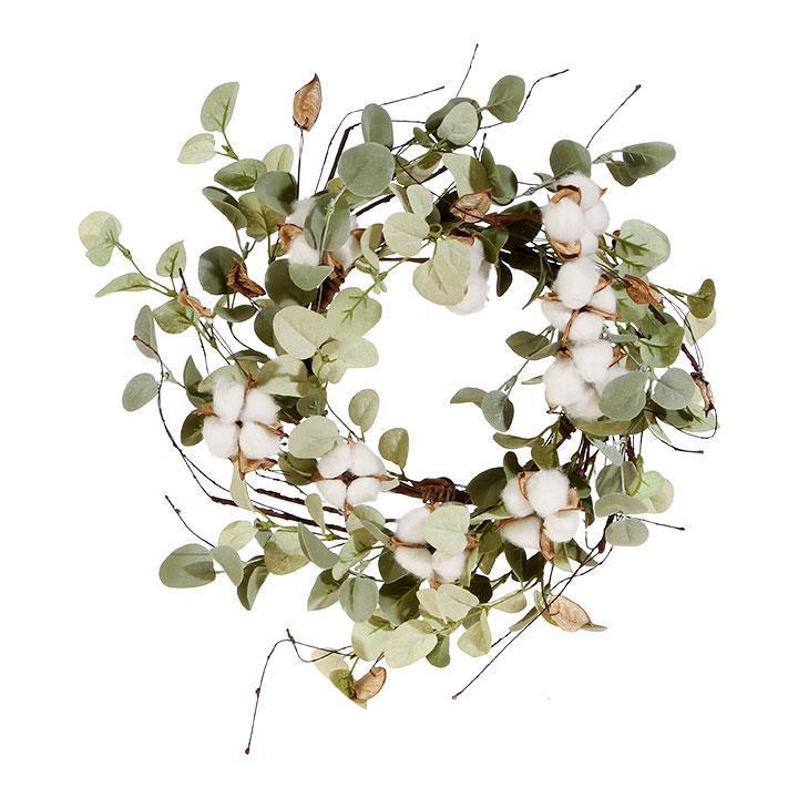 "Cotton & Eucalyptus Candle Ring 15""-Seasonal-A Cottage in the City"