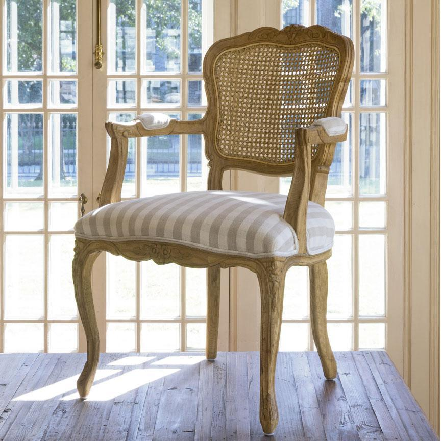 Country Oak & Cane Arm Chair Set of 2-Furniture-A Cottage in the City
