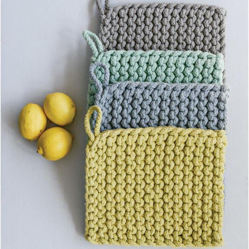 Crocheted Pot Holder-Tabletop-Yellow-A Cottage in the City