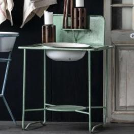 Vintage Metal Wash Stand-Furniture-A Cottage in the City